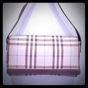 BURBERRY pink nova check shoulder bag